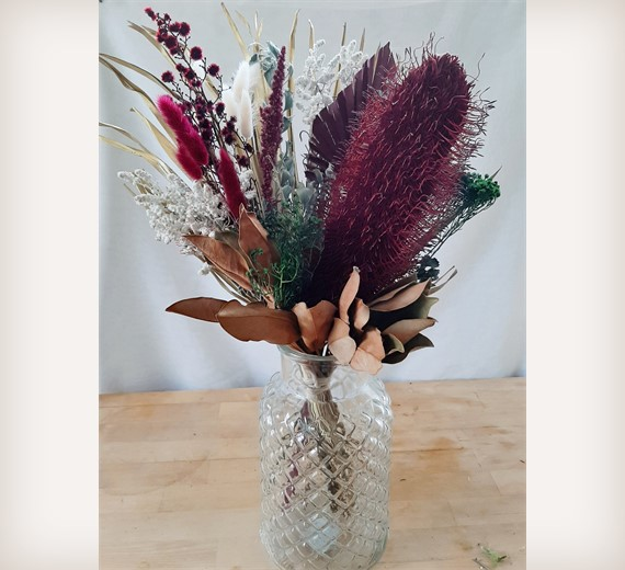 Christmas Dried Flower Bouquet Dried And Preserved Laplume